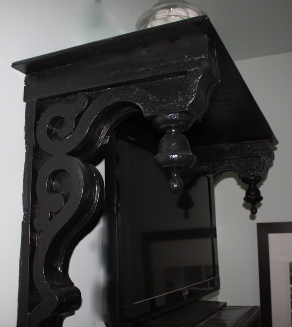 Salvaged Corbels From Auction Get New Life as a Handsome Shelf…