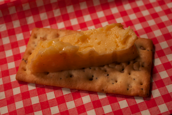 smoked cheese on cracker