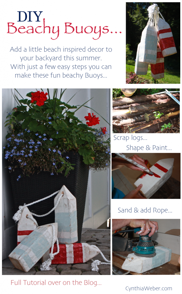 DIY Beachy Buoys… CynthiaWeber.com