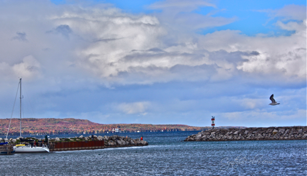 a view over the harbour in Meaford Ontario