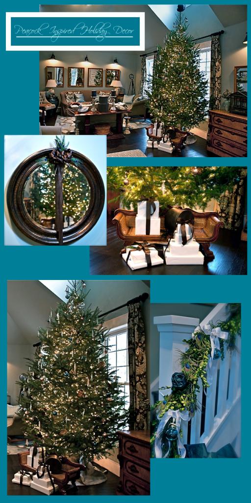 Peacock Inspired Holiday decor