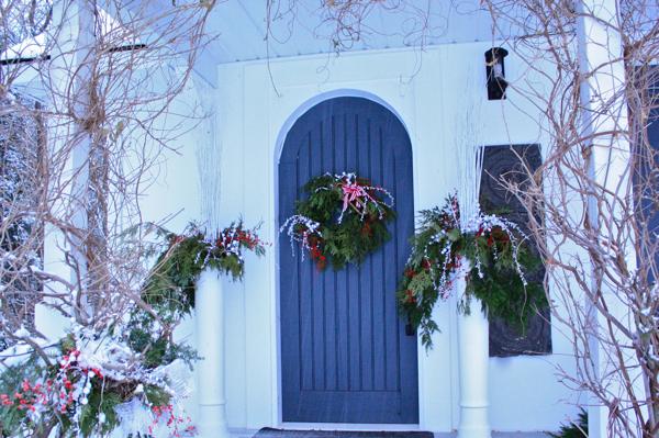 front door at hoop top house