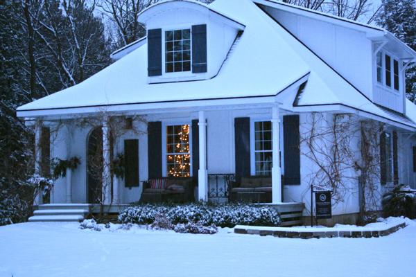 snow at hoop top house