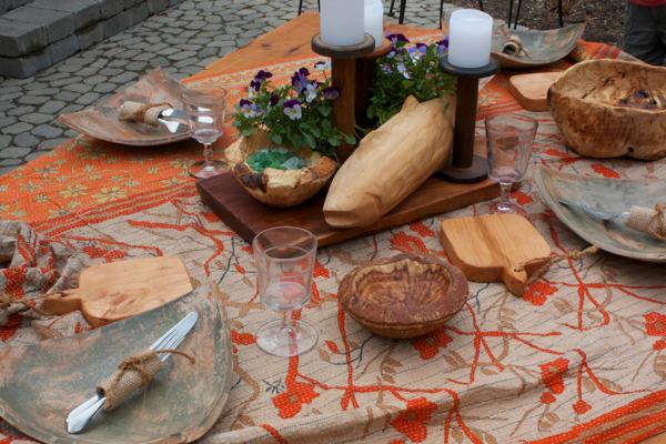 folk art fish, bread boards, burl bowls cynthiaweber.com