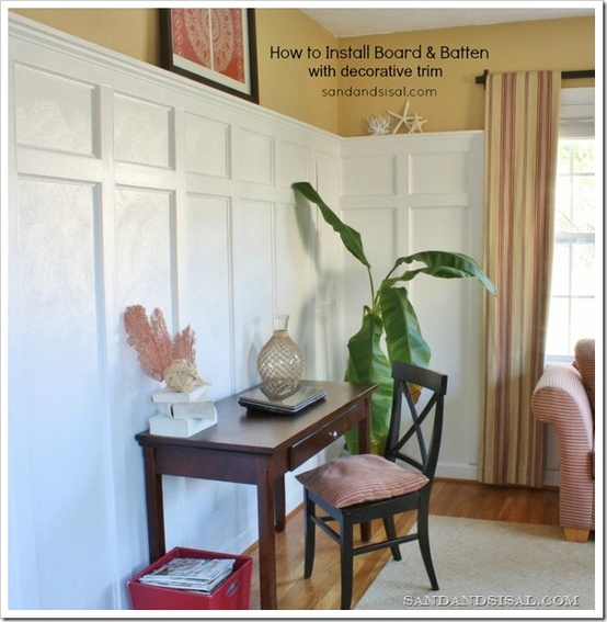 high wainscoting tutorial