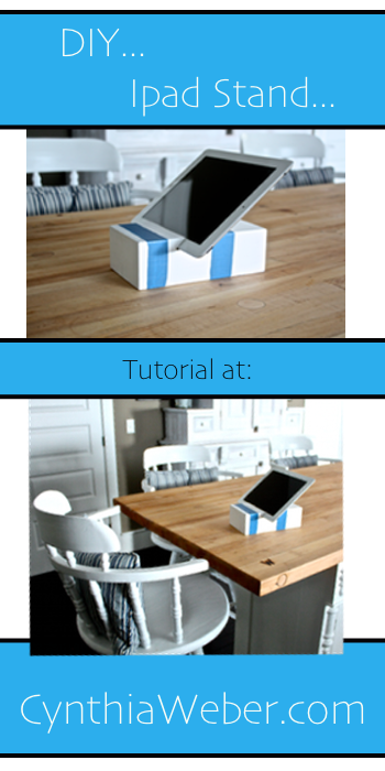 DIY Ipad Stand Tutorial http-::cynthiaweber.com:ipad-stand-tutorial: