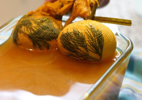eggs in tumeric dye bath cynthiaweber.com