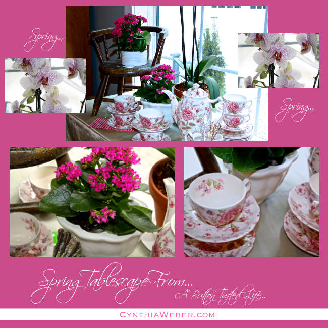 Spring Tablescape Collage Cynthiaweber.com