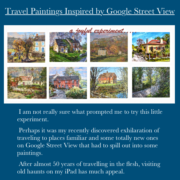 Travel Paintings inspired by Google Street View cynthiaweber.com