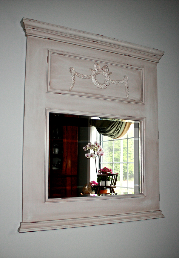 Mirror with wax finish cynthiaweber.com