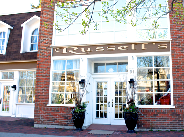 Russell's in Niagara-on-the-lake cynthiaweber.com