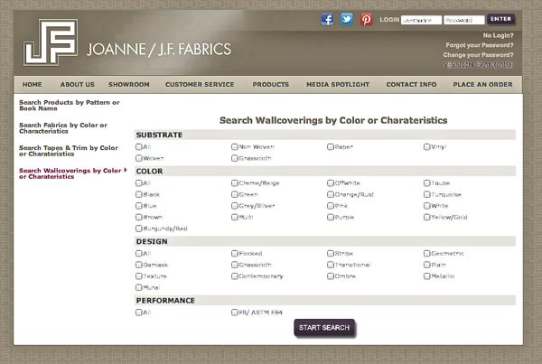 search tool JF Fabrics CynthiaWeber.com