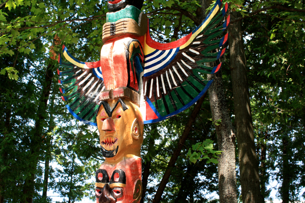 Totem Pole at the Parkette Cape Croker Ontario cynthiaweber.com