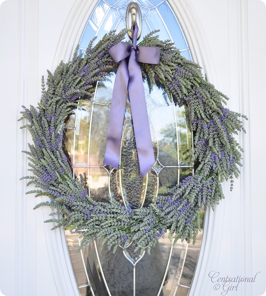 Centsational Girl lavender wreath tutorial