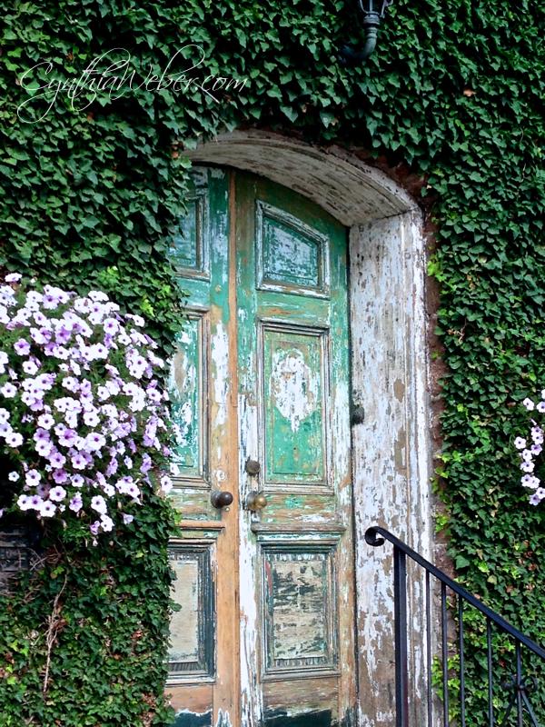 Faded & Fabulous Doorway… CynthiaWeber.com