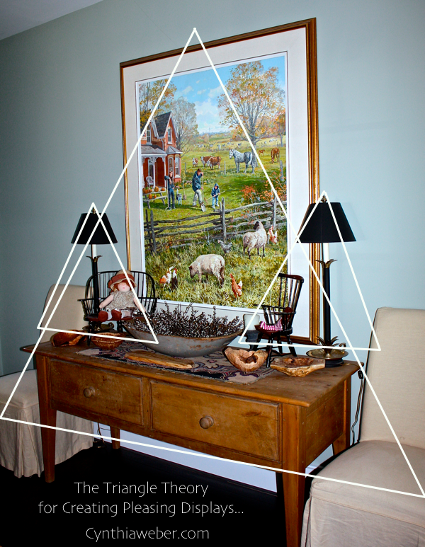 The triangle theory for creating pleasing displays cynthiaweber.com
