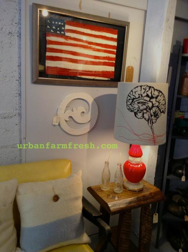 the interior of Urban Farm Fresh post at  cynthiaweber.com