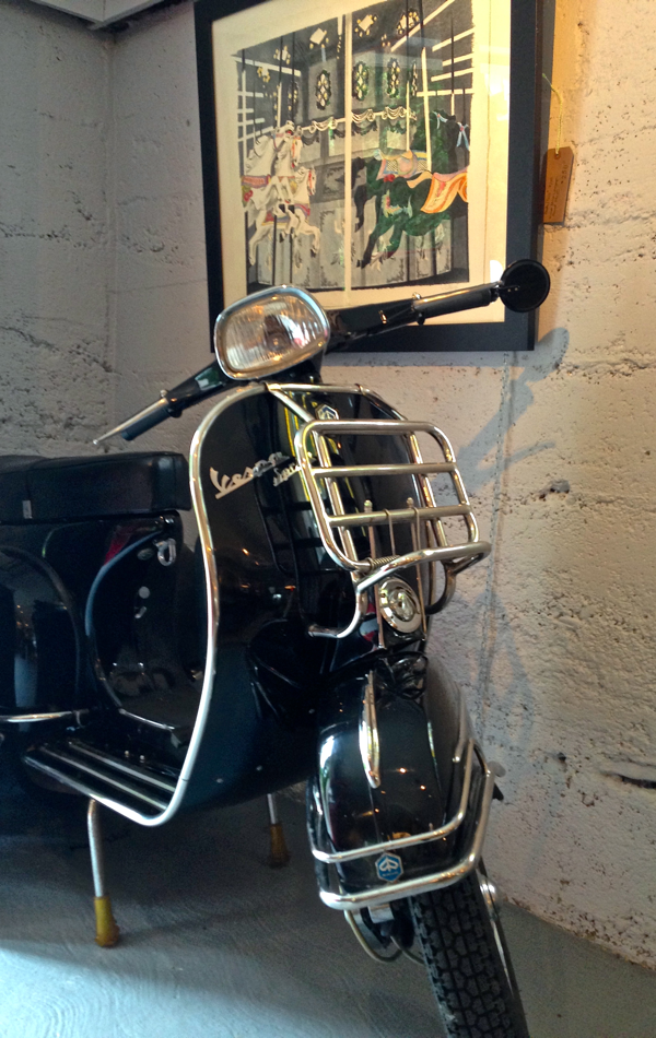 vespa at The Turner Gallery Bayfield