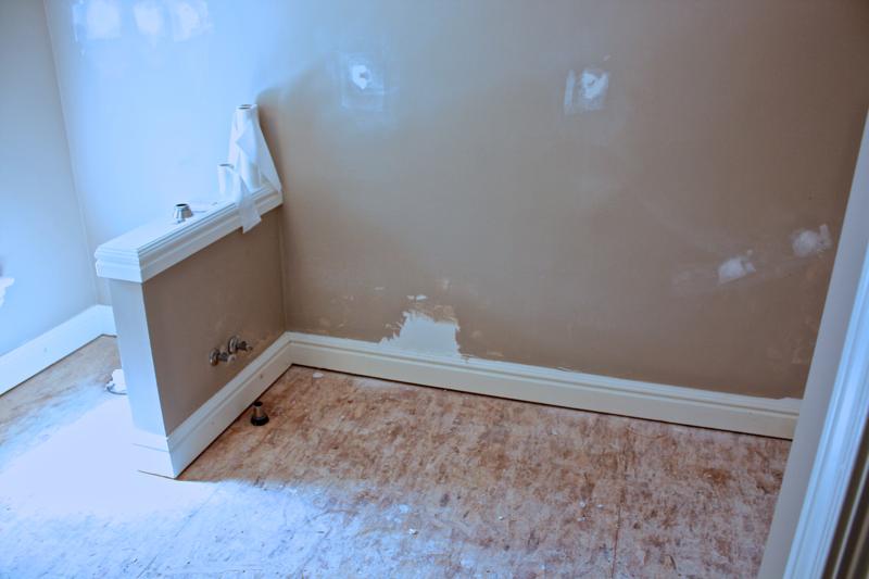 upstairs bathroom gutted