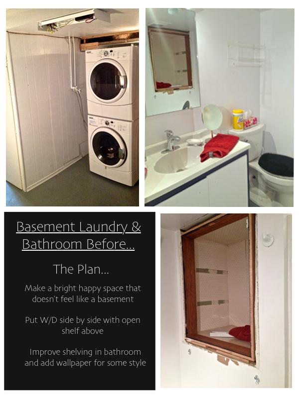 Basement Laundry & Bathroom before...