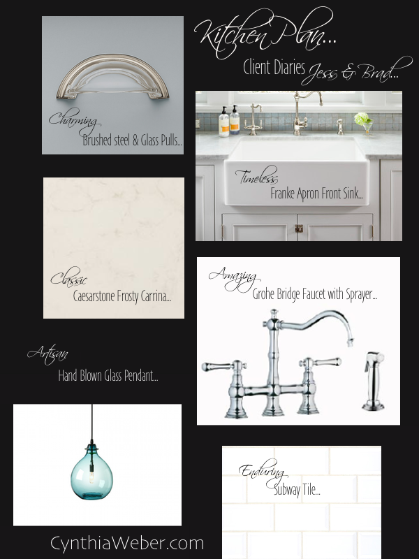 Kitchen Plan for Client Diaries, Jess & Brad The innovative blog series from Decorator Cynthia Weber