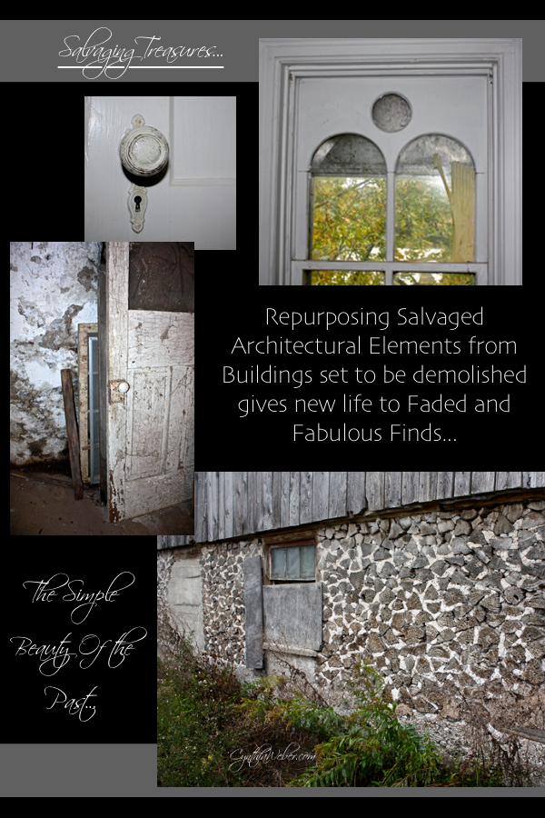 Salvaging Treasures from buildings set to be demolished gives new life to Faded and Fabulous Finds… CynthiaWeber.com