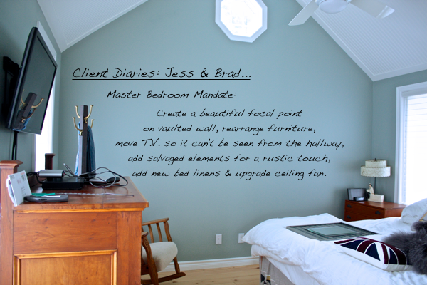 Client Diaries- Jess & Brad… Master Bedroom Mandate from CynthiaWeber.com