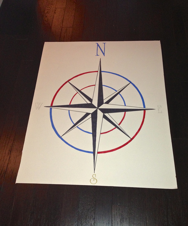 Compass template for entrance floor... Client Diaries- Jess & Brad