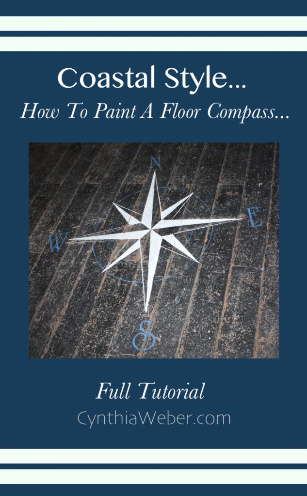 Creating Coastal Style DIY Floor Compass… CynthiaWeber.com