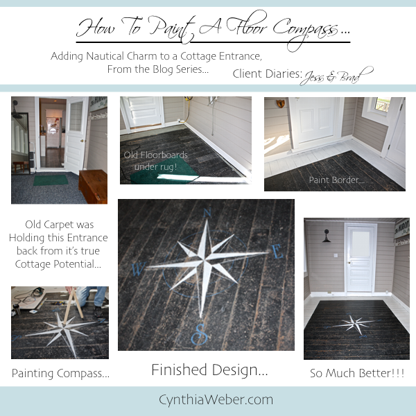 How to Paint a Floor Compass… CynthiaWeber.com