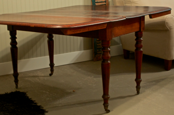 Come see how I turned this wonky drop leaf table into a fantastic desk! CynthiaWeber.com