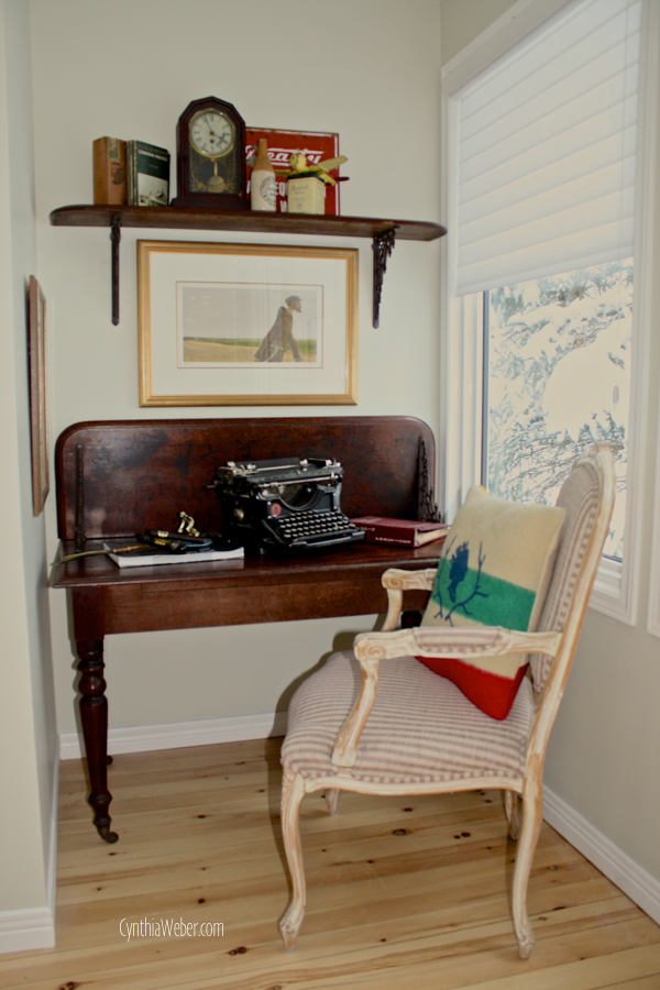 Creating a cozy alcove office… CynthiaWeber.com
