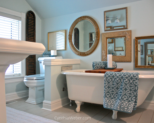 Vintage inspired Bathroom renovation CynthiaWeber.com