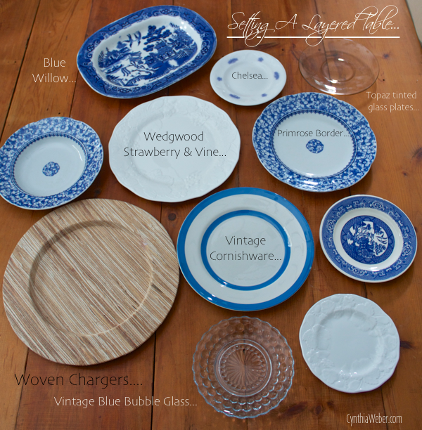 Setting a Layered Table… CynthiaWeber.com
