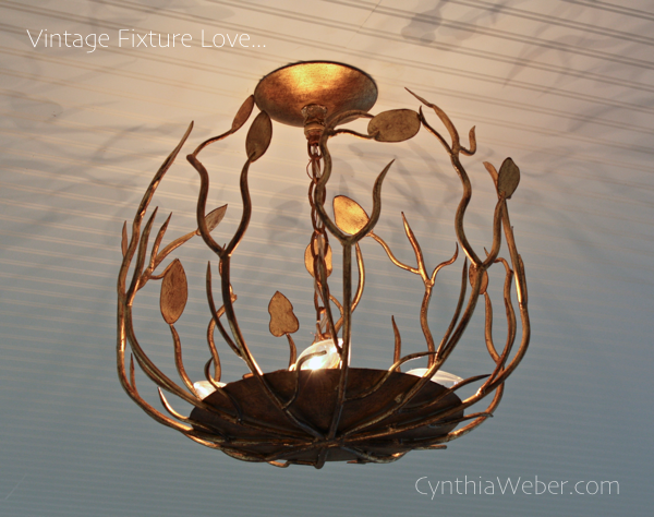 Beautiful Vintage Fixture for Cottage Reno… CynthiaWeber.com