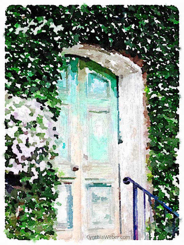 Faded Doorway through the eyes of Waterlogue CynthiaWeber.com