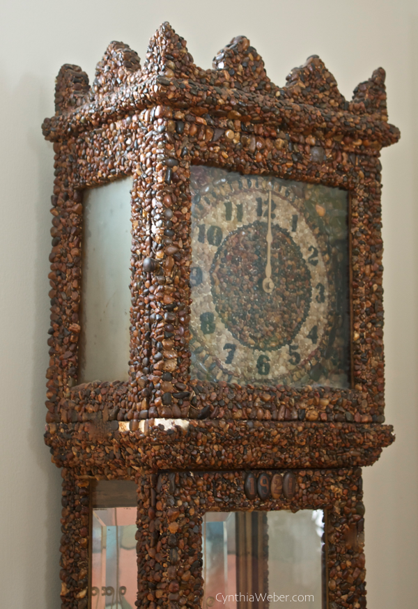 Hand made beach stone clock dated 1921 CynthiaWeber.com