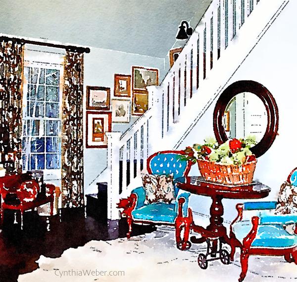 Living room at Hoop Top House CynthiaWeber.com
