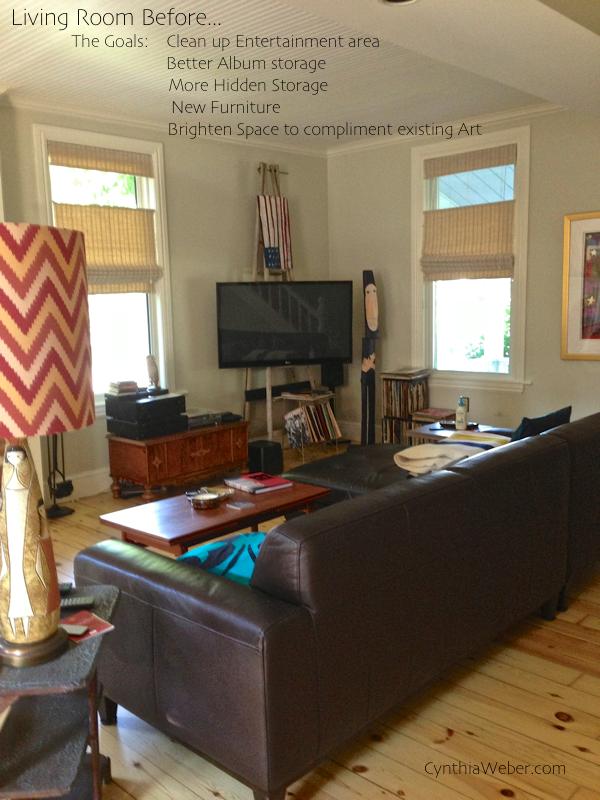 Living room before… CynthiaWeber.com