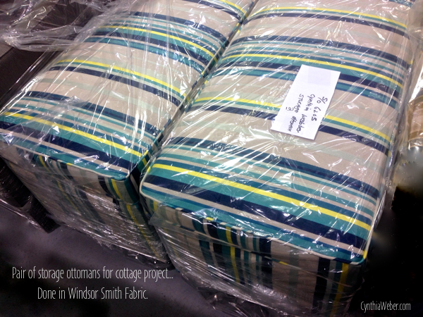 Ottomans done in Windsor Smith Fabric  CynthiaWeber.com