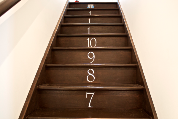 DIY numbered staircase… half done! CynthiaWeber.com