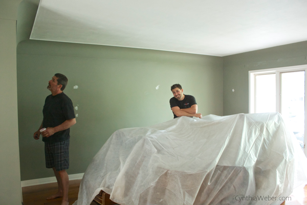 Working on a surprise living room reno for my parents…. CynthiaWeber.com
