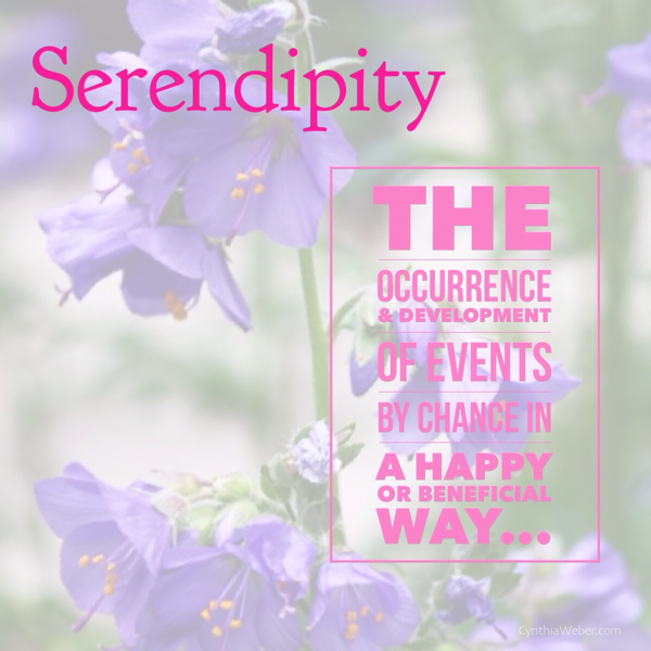 Serendipity defined… CynthiaWeber.com