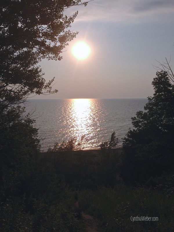 Sunset in Bayfield Ontario… CynthiaWeber.com