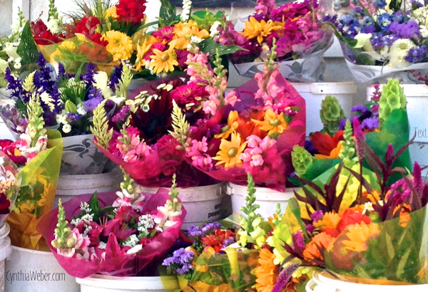 Flowers at a road side stand… CynthiaWeber.com