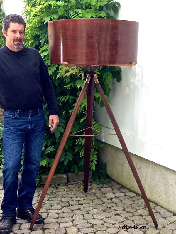 Kent with his finished Lamp … CynthiaWeber.com