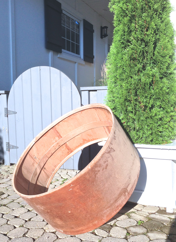 Old Drum Hoop… Inspiration for our industrial lamp project… CynthiaWeber.com
