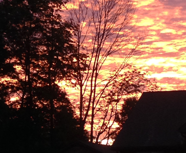 sunrise at Hoop Top House… CynthiaWeber.com