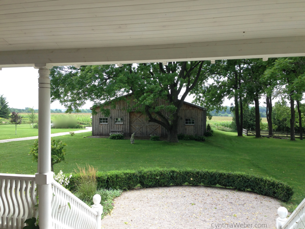 views from the back porch to the barn… CynthiaWeber.com