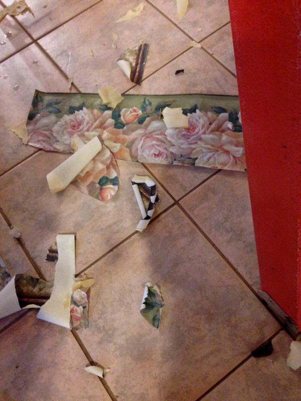 Tearing down wallpaper